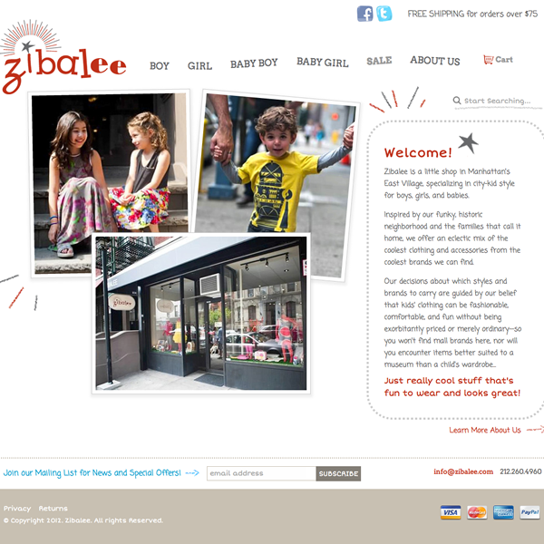 Zibalee website
